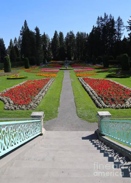 Manito Park Spokane Photograph - Steps To Duncan Garden by Carol Groenen