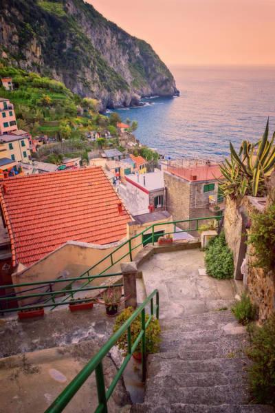 Photograph - Steps To Riomaggiore Cinque Terre Italy by Joan Carroll