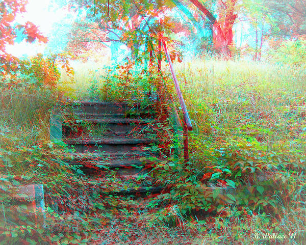 Fx Photograph - Steps To Yesterday - Use Red-cyan 3d Glasses by Brian Wallace