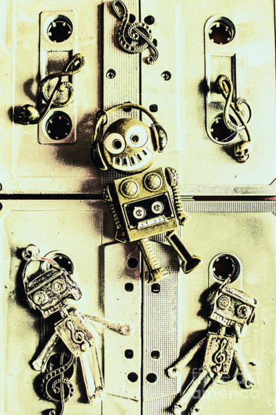 Grunge Music Wall Art - Photograph - Stereo Robotics Art by Jorgo Photography - Wall Art Gallery