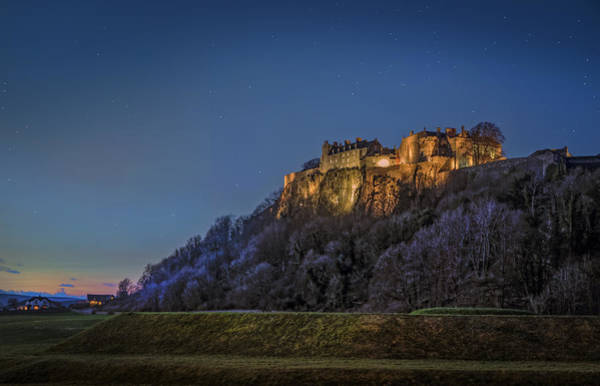 Wall Art - Photograph - Stirling Castle Scotland At Night by Mal Bray