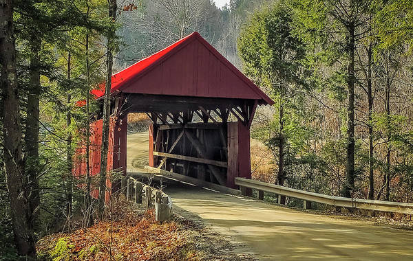 Photograph - Sterling Covered Bridge by Robert Mitchell