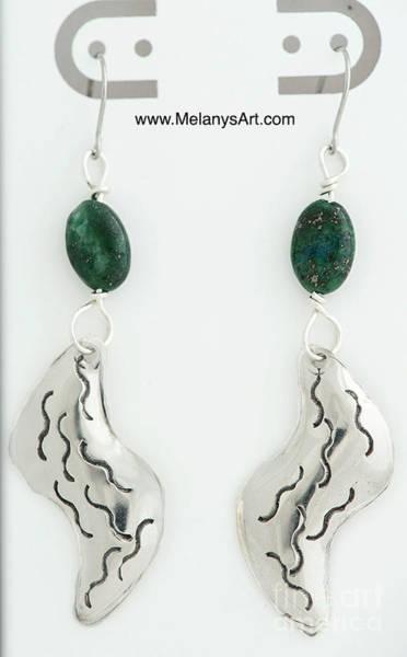 Sterling Silver Jewelry Wall Art - Jewelry - Sterling Silver Wavy Earrings by Melany Sarafis