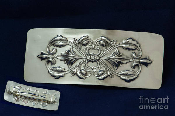 Sterling Silver Wall Art - Jewelry - Sterling Silverart Nouveau Hair Barrette by Melany Sarafis