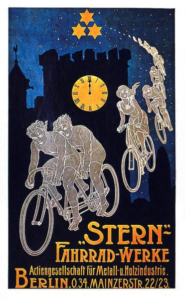Wall Art - Mixed Media - Stern - Fahrrad-werke - Berlin, Germany - Vintage Advertising Poster by Studio Grafiikka