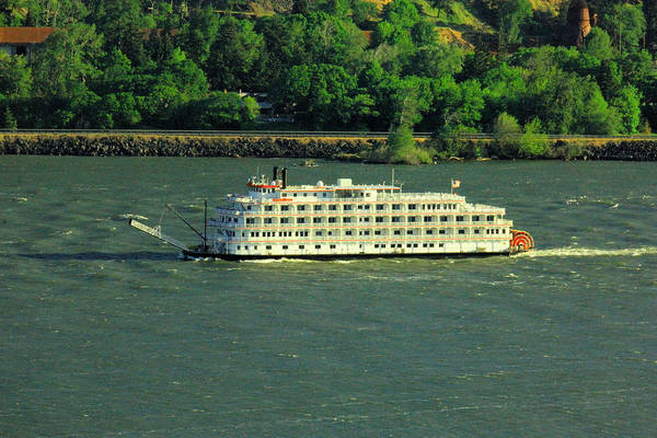 Swan Boats Photograph - Stern Wheeler On The Columbia River  by Jeff Swan