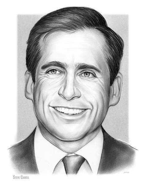 Comedy Wall Art - Drawing - Steve Carell by Greg Joens