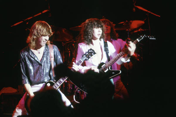 Photograph - Steve Clark, Pete Willis And Joe Elliott by Rich Fuscia