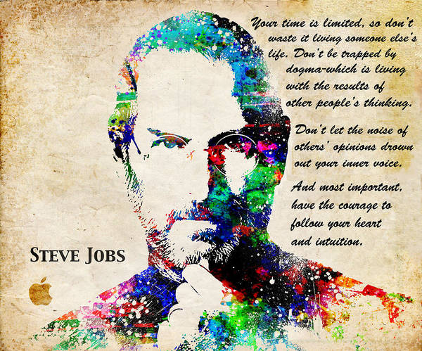 Wall Art - Digital Art - Steve Jobs Portrait by Patricia Lintner