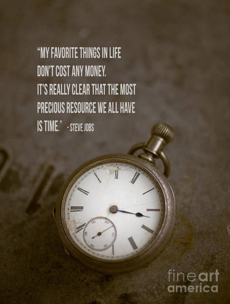 Saying Photograph - Steve Jobs Time Quote by Edward Fielding