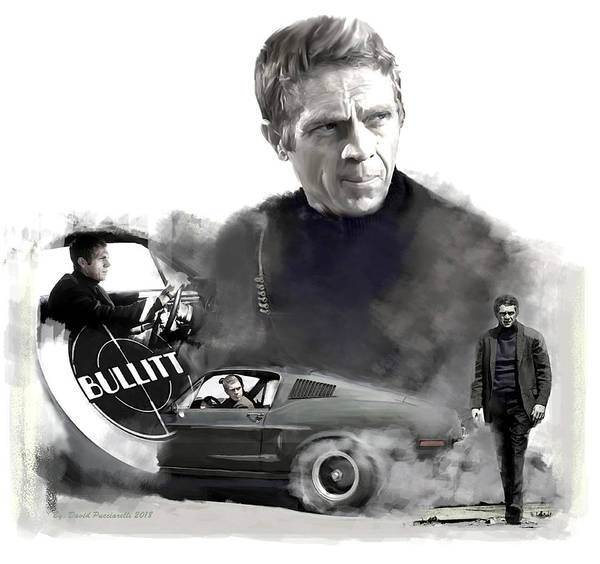 Painting - Steve Mcqueen 50 Bullitt by Iconic Images Art Gallery David Pucciarelli