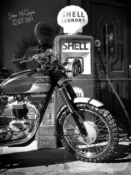 Wall Art - Photograph - Steve Mcqueen Isdt 64 by Mark Rogan