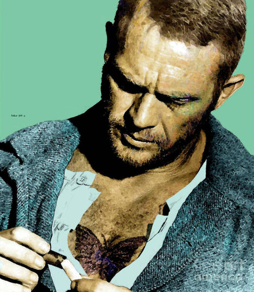 Wall Art - Painting - Steve Mcqueen, Papillon, The Butterly by Thomas Pollart