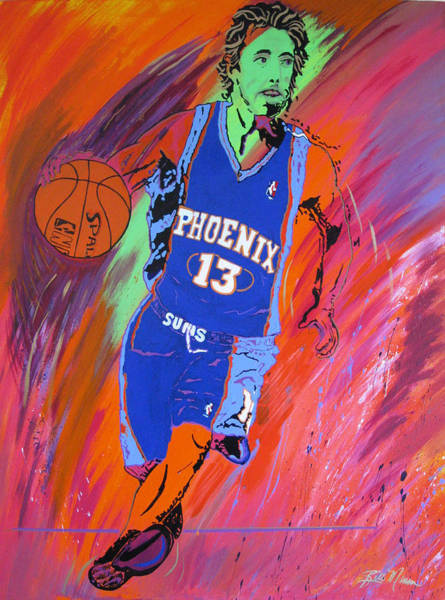 Wall Art - Painting - Steve Nash-vision Of Scoring by Bill Manson
