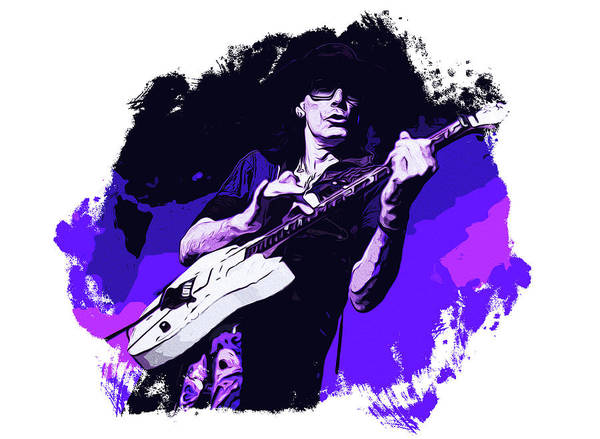 Steve Vai Painting - Steve Vai In Concert by Andrea Mazzocchetti