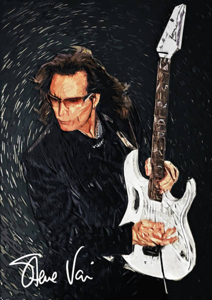 Rock Music Jimmy Page Wall Art - Digital Art - Steve Vai by Zapista Zapista