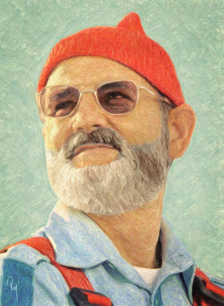 Wall Art - Painting - Steve Zissou by Zapista Zapista