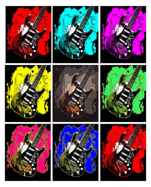 Digital Art - Stevie Ray Vaughn by Jim Mathis