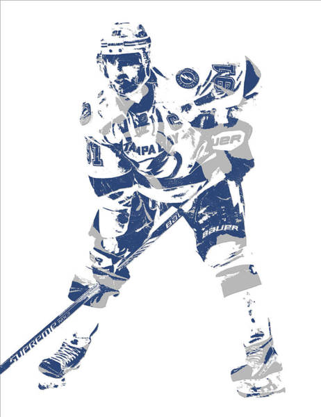 Wall Art - Mixed Media - Steven Stamkos Tampa Bay Lightning Pixel Art 3 by Joe Hamilton