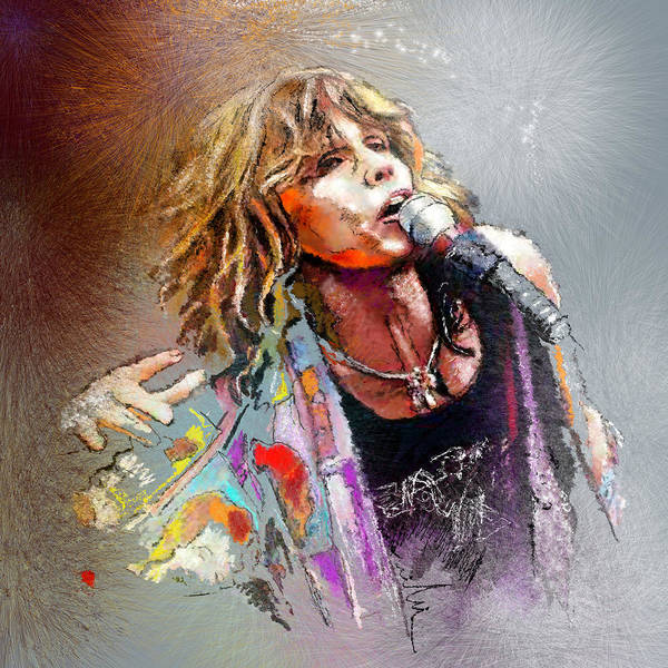 Painting - Steven Tyler 02  Aerosmith by Miki De Goodaboom