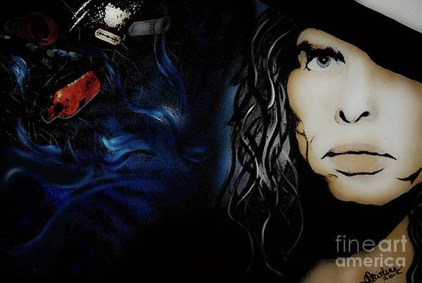 Steven Tyler Painting - Steven Tyler by Christine Mayfield
