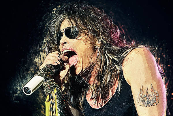 Glam Rock Digital Art - Steven Tyler  by Zapista Zapista