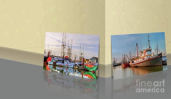 Wall Art - Photograph - Steveston Fishing Boats From Art Gallery Yellow Marble Room by Viktor Birkus