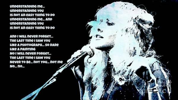 Wall Art - Painting - Stevie Nicks Blue Denim by John Malone