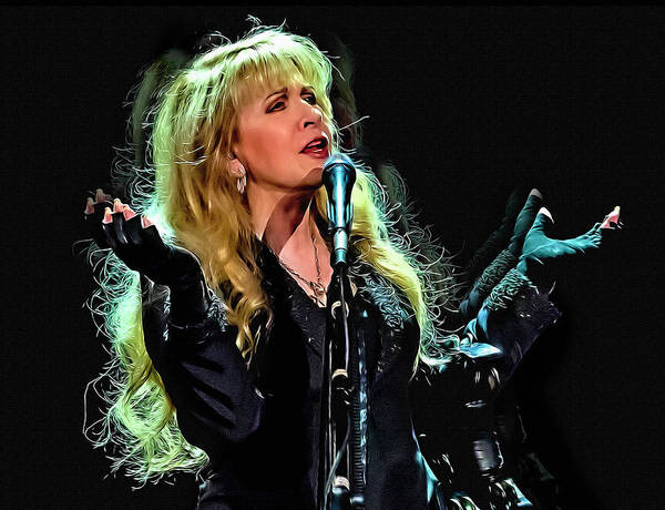 Stevie Nicks Digital Art - Stevie Nicks, Fleetwood Mac by Mal Bray
