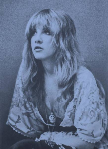 Stevie Nicks Photograph - Stevie Nicks In Dusty Blue by Donna Wilson