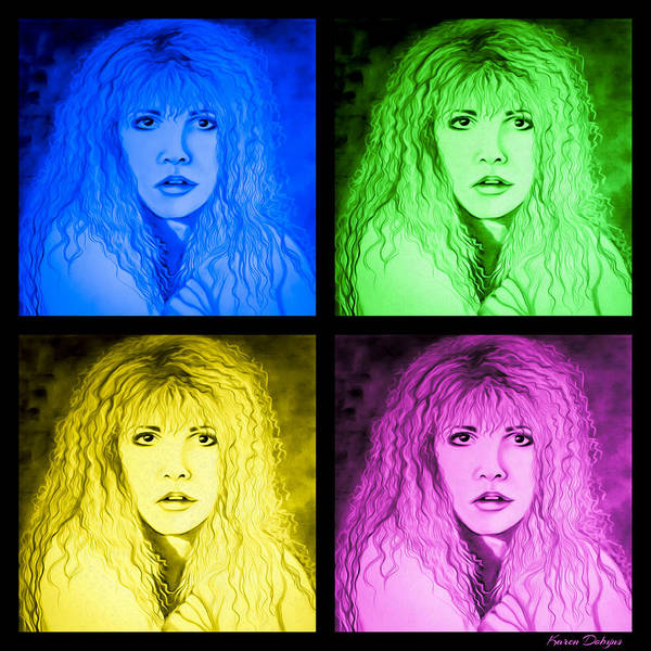 Stevie Nicks Photograph - Stevie Nicks by Karen Dobyns