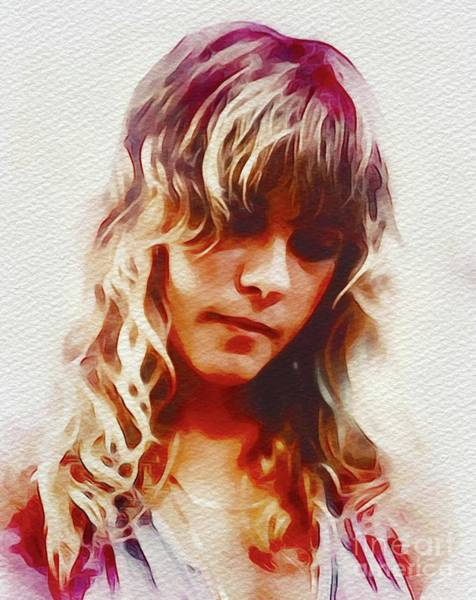 Wall Art - Painting - Stevie Nicks, Music Legend by John Springfield