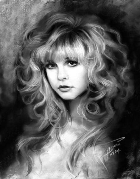 Rock Music Drawing - Stevie Nicks by Ylli Haruni
