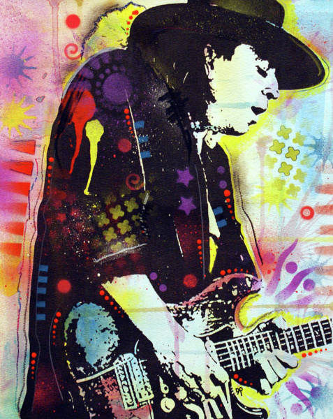 Wall Art - Painting - Stevie Ray Glow by Dean Russo Art