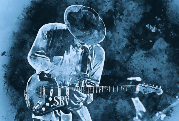 Stevie Ray Vaughan - 12 Art Print