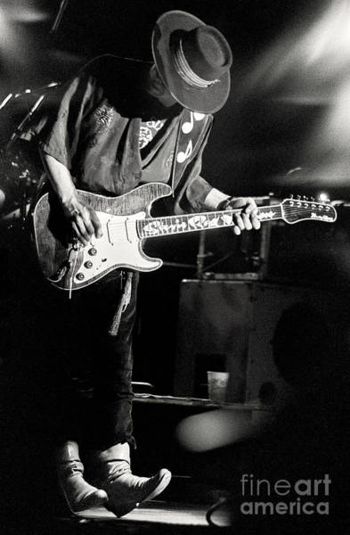 Strat Photograph - Stevie Ray Vaughan by Chuck Spang