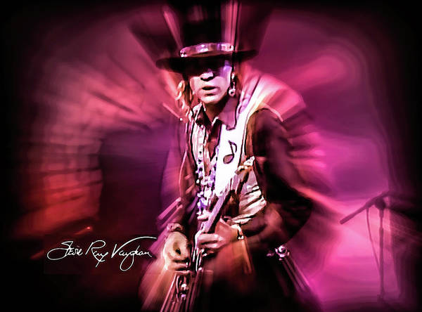 Digital Art - Stevie Ray Vaughan - Crossfire by Glenn Feron