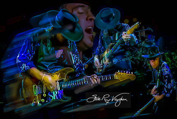 Digital Art - Stevie Ray Vaughan - Double Trouble by Glenn Feron