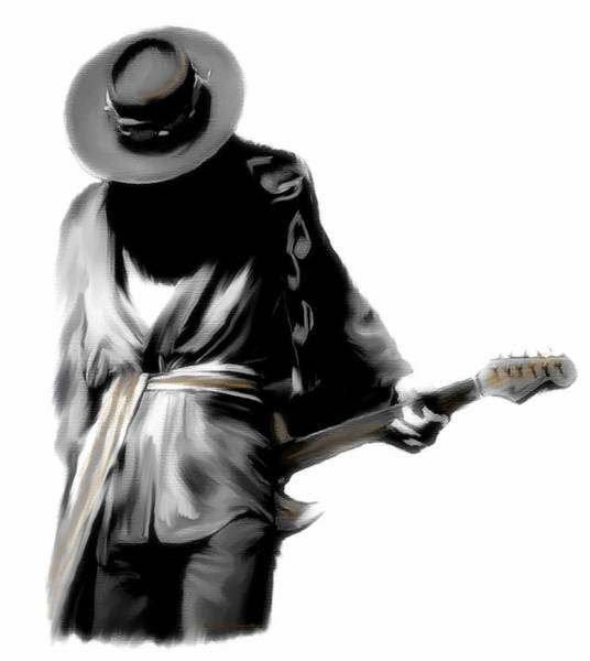 Wall Art - Painting - Stevie Ray Vaughan Shadowing Soul by Iconic Images Art Gallery David Pucciarelli