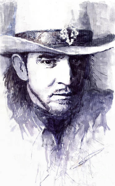 Guitarist Wall Art - Painting - Stevie Ray Vaughan by Yuriy Shevchuk