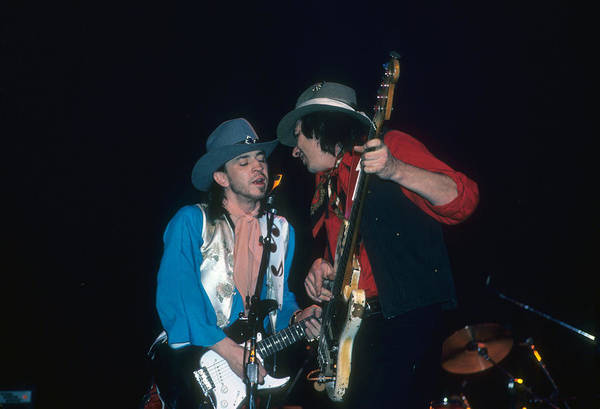 Photograph - Stevie Ray Vaughn And Chris Layton by Rich Fuscia