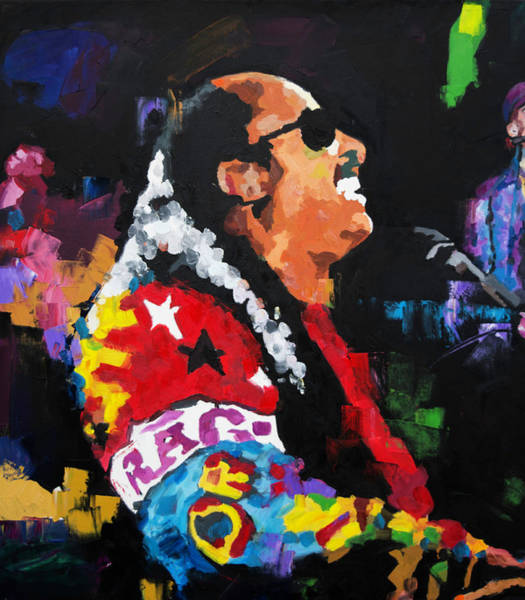 Live Music Painting - Stevie Wonder Live by Richard Day