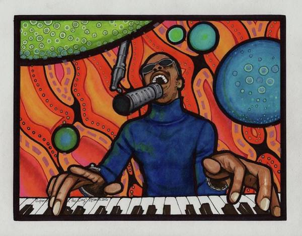 11x14 Painting - Stevie Wonder Superstition by Diane Baren