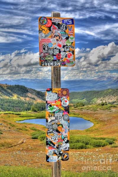 Photograph - Stickers Galore 2 by Tony Baca