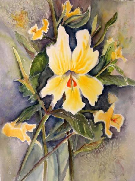 Painting - Sticky Monkey Flower by Anna Jacke