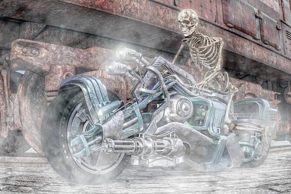 Burn Digital Art - Still Bad To The Bone by Betsy Knapp