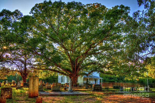 Photograph - Still Faithful 2 Bethany Presbyterian Church The Old Oak Tree Greene County Georgia Art by Reid Callaway