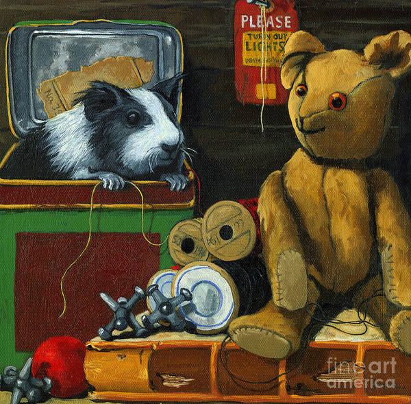 Wall Art - Painting - Still Life - Herman Finds A Friend by Linda Apple