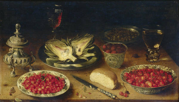 Food Groups Painting - Still Life, 1624 by Osias Beert