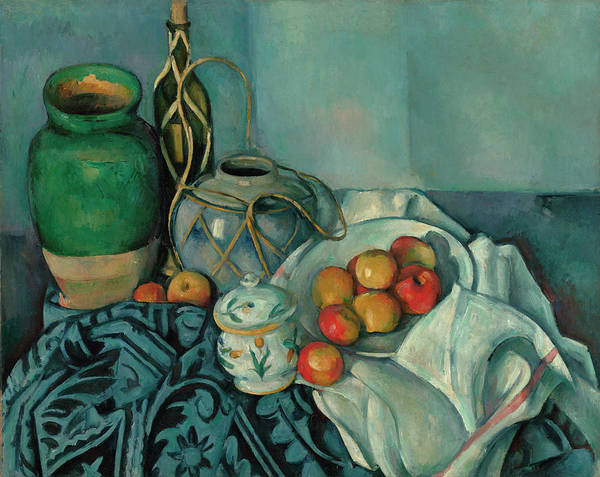 Apple Peel Painting - Still Life Apples by Paul Cezanne